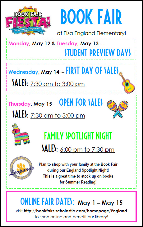 May 2014 Book Fair Flyer