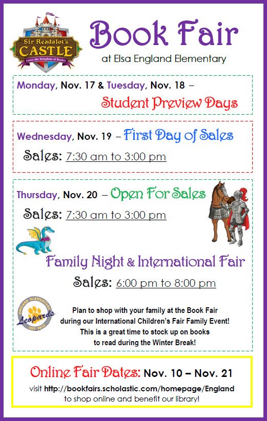11-2014 Book Fair Flyer Screenshot