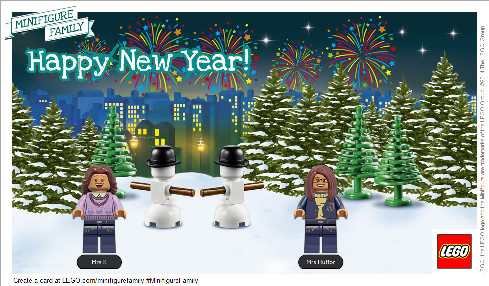 Happy New Year Lego Family